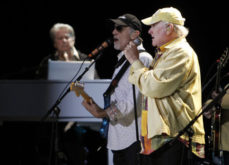 The Beach Boys' Wilson, Marks and Love perform at a stop on their 50-year anniversary world tour in Irvine, California
