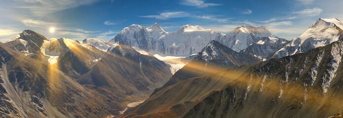 Aluminium Prints Mountains Beautiful autumn landscape, Altai mountains Russia.