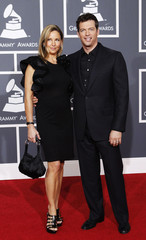 Harry Connick Jr. and wife Jill Goodacre arrive at the annual Grammy Awards in Los Angeles