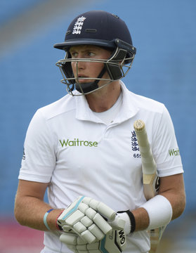 England's Joe Root leaves the field after being dismissed  during the second cricket test match against Sri Lanka at Headingley cricket ground in Leeds, England
