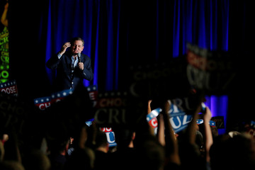 U.S. Republican presidential candidate Ted Cruz (R-TX) speaks at a campaign event at the Indiana State Fairgrounds in Indianapolis, Indiana