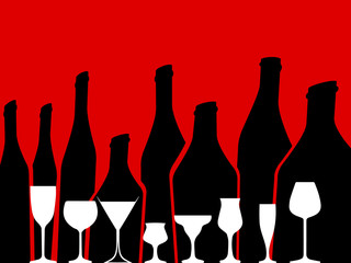 Alcohol vector background