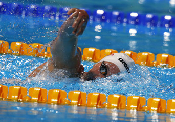 Caitlin Leverenz of the U.S. competes in the women's 200m individual medley heats during the World Swimming Championships at the Sant Jordi arena in Barcelona