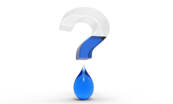 Water Shortage Question Mark 3D Render Concept