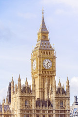 Houses of Parliament and Big Ben in London UK