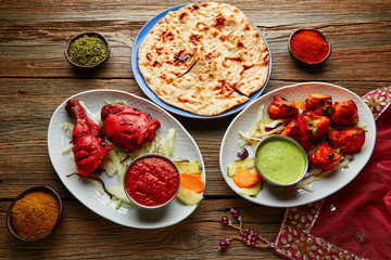 Chicken Tandoori and Chicken Tikka