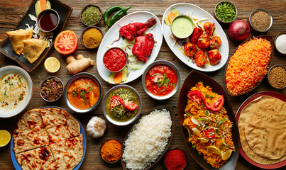 Assorted Indian recipes food various