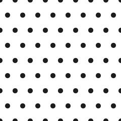 Czarno-białe tło bez szwu. Mały wzór polki dot. Retro klasyczny elegancki tło. Ilustracji wektorowych. - 154150081