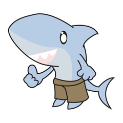 Cartoon Shark with Thumb Up