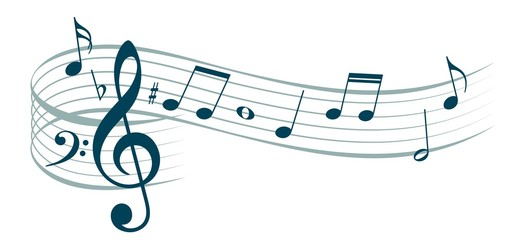 Music notes.