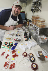 Scheeler displays some of his medibles at his commercial grade kitchen in Bonney Lake
