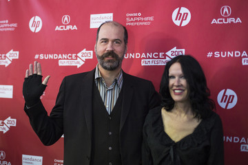 Musician Krist Novoselic arrives with Darbury Stenderu for the premiere of the documentary Sound City at the Sundance Film Festival in Park City, Utah