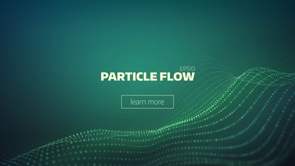 particle grid abstract background. Science minimal backdrop for presentation. Cyber wave