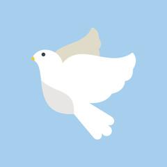 Dove flying bird vector illustration cartoon cute fauna peace symbol feather flight animal silhouette