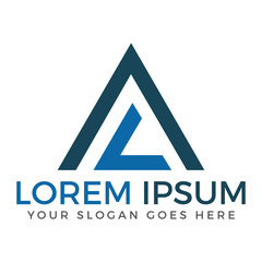 LA Pyramid Modern Letter Logo Design.