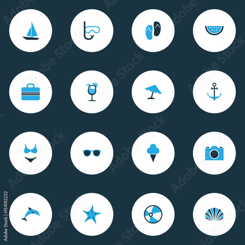 82f517f22401 Season Colorful Icons Set. Collection Of Umbrella