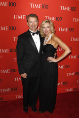 Senator Rand Paul arrives with Kelley Ashby for the Time 100 gala celebrating the magazine's naming of the 100 most influential people in the world for the past year, in New York