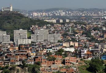 Penha church is seen near the Alemao slum in Rio de Janeiro