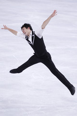 Chan of Canada performs during the Men's Short Program in the Bompard Trophy event at Bercy in Paris