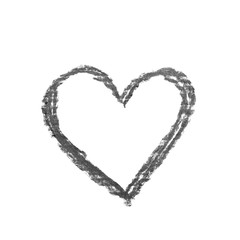 Hand drawn heart shape isolated