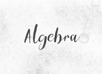 Algebra Concept Painted Ink Word and Theme