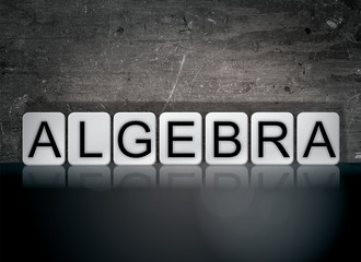 Algebra Concept Tiled Word