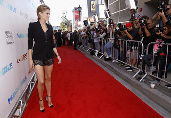 "Cody Horn poses at the premiere of ""Magic Mike"" during the Los Angeles Film Festival in California"