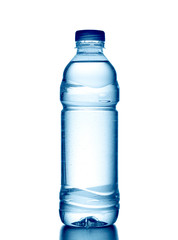 Bottle of fresh water isolated.