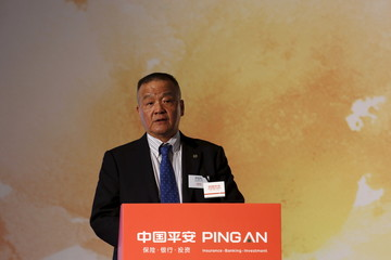 Ping An Insurance Group Chairman and Chief Executive Officer Peter Ma Mingzhe speaks during a news conference following the company's announcement of its annual results in Hong Kong