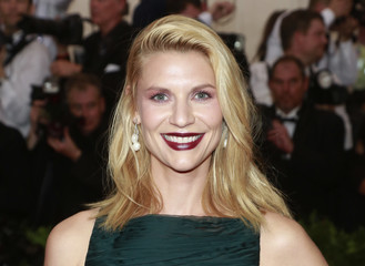"""U.S. actress Claire Danes arrives for the Metropolitan Museum of Art Costume Institute Gala 2015 celebrating the opening of """"China: Through the Looking Glass,"""" in Manhattan"""