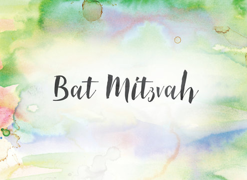 Bat Mitzvah Concept Watercolor and Ink Painting