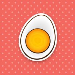 Sticker half boiled egg