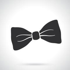 Silhouette of retro bow tie