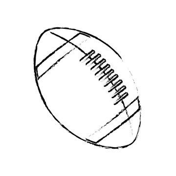 american footbal ball sport equipment vector illustration