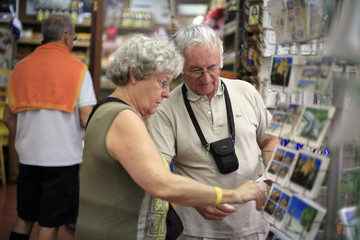 French tourists shop for gifts in the Colonial Zone in Santo Domingo