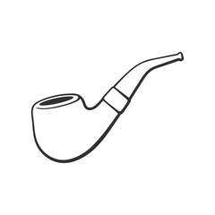 Doodle of retro smoking pipe