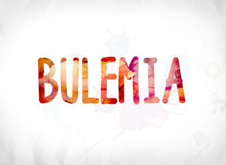 Bulemia Concept Painted Watercolor Word Art