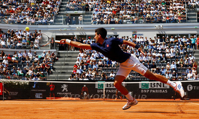 Tennis - ATP - Rome Open - Novak Djokovic of Serbia v Juan Martin del Potro of Argentina