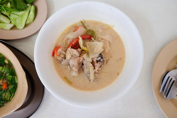 Chicken coconut soup (Tom Kha Gai)