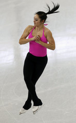 Osmond of Canada skates during a figure skating training session in preparation for the 2014 Sochi Winter Olympics