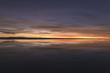 Gradient colour reflection at Uyuni Bolivia.