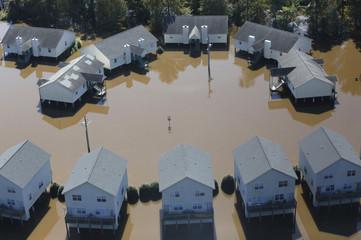 Damage from Hurricane Matthew is seen in Greenville