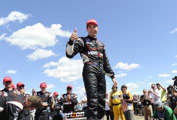 Power celebrates winning the Edmonton Indy in Edmonton