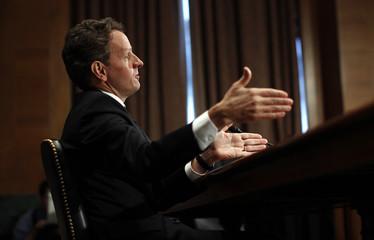 US Treasury Secretary Geithner testifies before the FCIC in Washington
