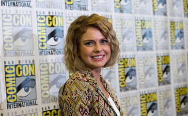 "Cast member McIver poses at a press line for ""iZombie"" during the 2014 Comic-Con International Convention in San Diego"