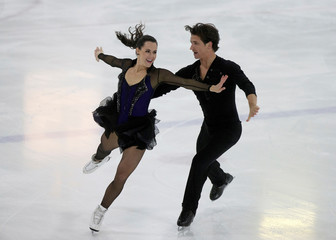 Canada's Tessa Virtue and Scott Moir perform in the senior ice dance at the Autumn Classic International skating competition in Montreal