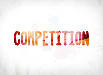 Competition Concept Painted Watercolor Word Art