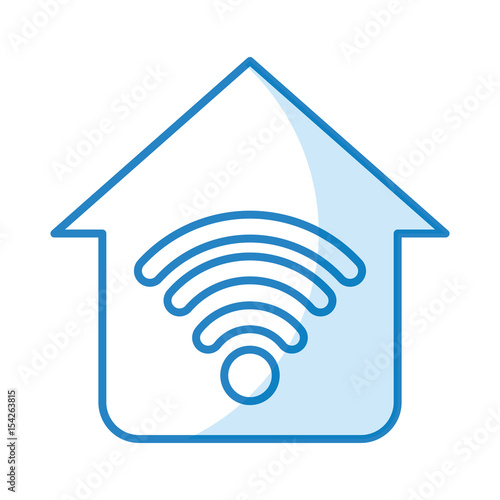 Home Wifi Sign Wireless Network Icon Vector Illustration Graphic Design Part 97