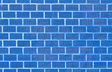 Blaue Wand Aus Lochziegeln