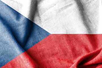 Czech Republic Cotton Flag